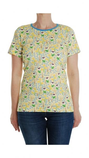 Duns Mama Short Sleeve Top Yellow Meadow